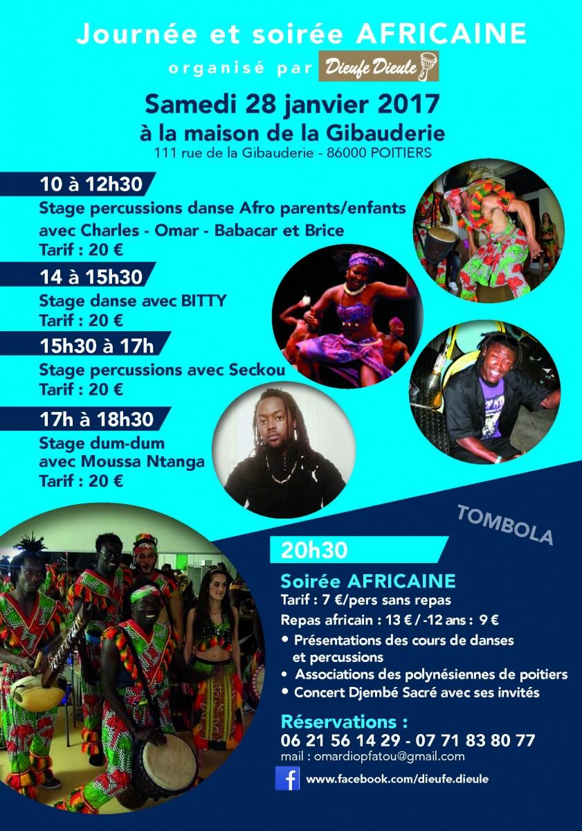 Soirée Africaine – Samedi 28 novembre 2017